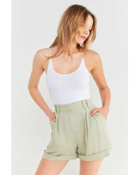 EVIDNT - High-rise Pleated Short - Lyst