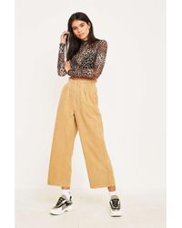 BDG - Sand Corduroy Paperbag Waist Trousers - Womens S - Lyst