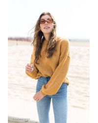 2980ad912 Urban Outfitters - Uo Oversized Balloon Sleeve Crew Neck Sweater - Lyst