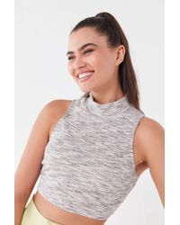 ce8bfe4826a97f Urban Renewal - Remnants Space Dye Mock Neck Cropped Top - Lyst