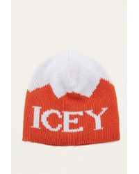 Urban Outfitters - Icey Orange And White Beanie - Lyst