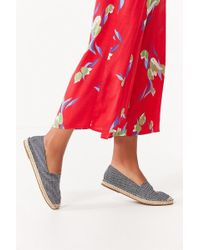 Urban Outfitters | Uo Striped Denim Espadrille Flat | Lyst