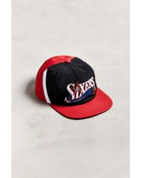 4ecde6d6dd8 Mitchell   Ness - Philadelphia 76ers Snapback Hat - Lyst