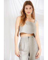Urban Renewal - Remnants Structured Striped Cropped Top - Lyst