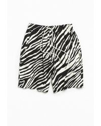 Urban Outfitters - Uo Zebra Rayon Baggy Short - Lyst