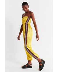 Urban Outfitters - Uo Striped Tube Top Jumpsuit - Lyst