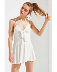 dc1032eb101 Urban Outfitters - Uo Alix Tie-front Skort Romper - Lyst