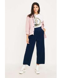 BDG - Navy Corduroy Paperbag Waist Trousers - Womens Xs - Lyst