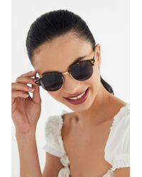 Urban Outfitters Round Half-frame Sunglasses