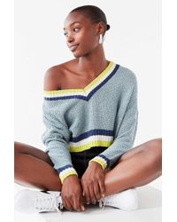 Urban Outfitters - Uo Kasey Striped Cropped Sweater - Lyst