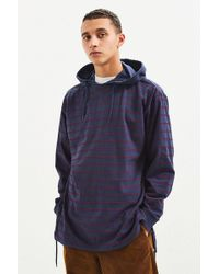 Urban Outfitters - Uo Striped Tie Split Hooded Long Sleeve Tee - Lyst