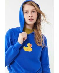 Truly Madly Deeply - Rubber Duck Shrunken Hoodie Sweatshirt - Lyst