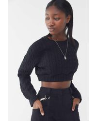 Urban Renewal - Recycled Cable Knit Cropped Sweater - Lyst