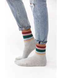 Out From Under - Multi-striped Crew Sock - Lyst