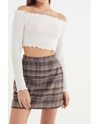 Urban Renewal - Vintage Plaid A-line Mini Skirt - Lyst