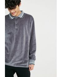 Urban Outfitters - Uo Velour Rugby Shirt - Lyst