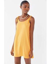 Urban Outfitters - Uo Maya Tie-shoulder Mini Slip Dress - Lyst