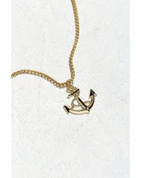 Urban Outfitters - Uo Gold Anchor Pendant Necklace - Lyst