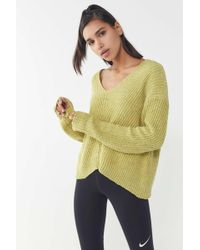 Lyst Urban Outfitters Uo Plush Chenille Mock Neck Sweater In Natural