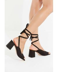 Urban Outfitters - Uo Maggie Lace-up Heel - Lyst