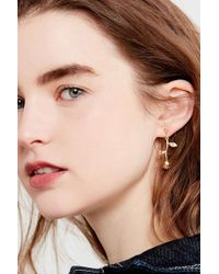 Urban Outfitters - Rose Statement Drop Earrings - Lyst