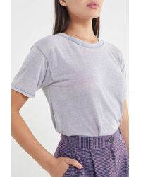 0c623401dc Lyst - Urban Renewal Remade Silky Scarf Tube Top in Blue