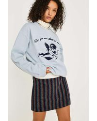 a1e828831 Urban Outfitters - Uo Rainbow Stripe Notch Mini Skirt - Womens Xs - Lyst