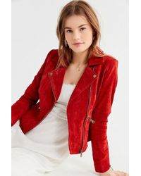 Urban Outfitters - Uo Suede Moto Jacket - Lyst