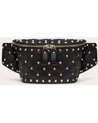 Valentino Garavani Rockstud Spike Nappa Leather Belt Bag - Black