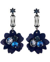 Oscar de la Renta - Bold Resin Flower Pacific Earrings - Lyst