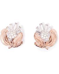 Rarities - Trifari Flower Earrings - Lyst