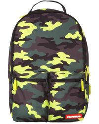 Sprayground - Neon Camo Cargo Backpack - Lyst