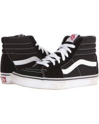 Vans   Black / Black / White Ua Sk8-hi Sneaker   Lyst