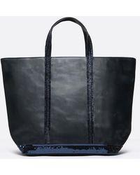 Vanessa Bruno - Medium + Leather And Sequins Cabas Tote Bag - Lyst