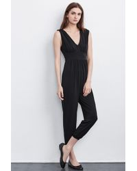 Velvet By Graham & Spencer | Marlisa Stretch Jersey Jumpsuit | Lyst