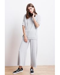Velvet By Graham & Spencer - Avalyn Fleece Wide Leg Pant - Lyst