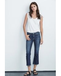 Velvet By Graham & Spencer - TWIGGY High Rise Crop Jean - Lyst