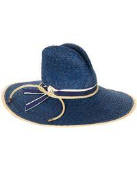 Veronica Beard - Joya Wide-brim Straw Hat Exclusive - Lyst