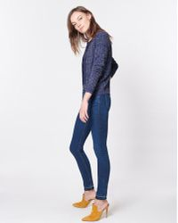 a9a1039e2cd Lyst - Lisa Perry Crop Cardigan in Gray