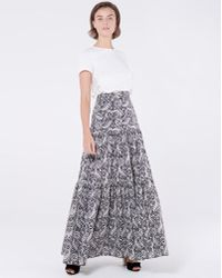 ed36cc9c772a4 Veronica Beard - Serence Batik Print Cotton Maxi Skirt - Lyst