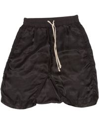 Rick Owens - Pre-owned Black Synthetic Shorts - Lyst