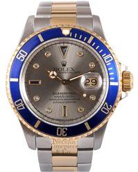 Rolex - Vintage Submariner Grey Steel Watches - Lyst