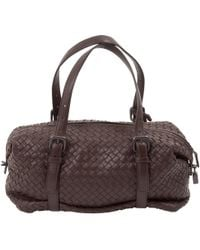 Bottega Veneta - Pre-owned Brown Leather Handbags - Lyst