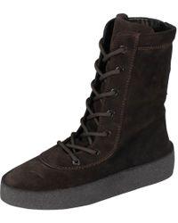 b7ac3312fe5 Lyst - Yeezy Suede Platform Desert Boot in Gray for Men