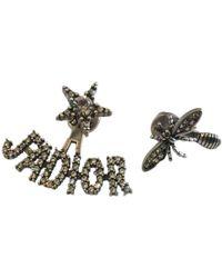 Dior - Pre-owned J'a Silver Metal Earrings - Lyst