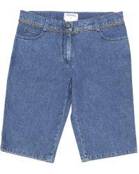 Chanel - Blue Denim - Jeans Shorts - Lyst