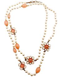 Chanel - Pearl Necklace - Lyst