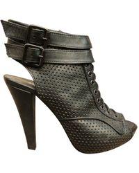 The Kooples - Boots open toe en cuir - Lyst