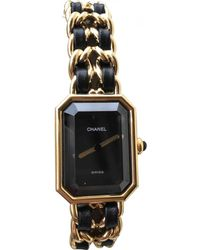 Chanel - Première Gold Gold Plated Watches - Lyst