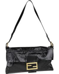 004358ddabb8 Fendi - Pre-owned Vintage Baguette Black Leather Handbags - Lyst